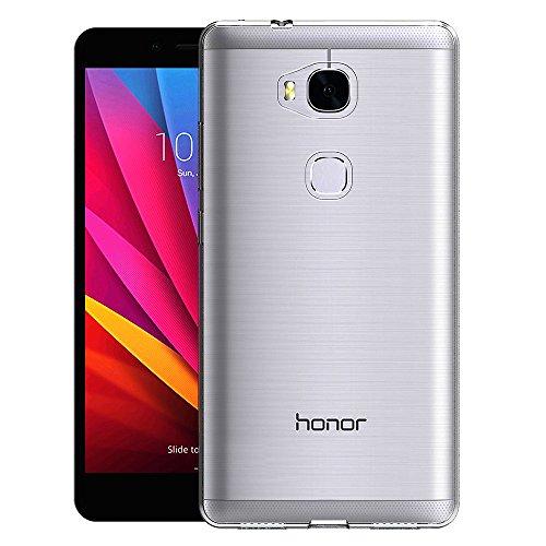 AICEK Huawei Honor 5X Hülle Case, Ultra-Clear Honor 5X Case Silikon Soft TPU Crystal Clear Premium Durchsichtig Handyhülle Schutzhülle Case Backcover Bumper Slimcase für Huawei Honor 5X - 2