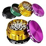 Grinder Metalico, iRainy 2.5 Pulgadas Molinillo de Especias 4 Capas Diamante Molinillo de Hierbas...