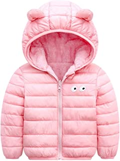 Xifamniy Infant Baby Down Jacket Worn On Both Sides Solid Color Cartoon Print Coat