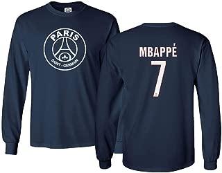 Spark Apparel Paris Soccer Shirt #7 MBAPPE Men's Long Sleeve T-Shirt