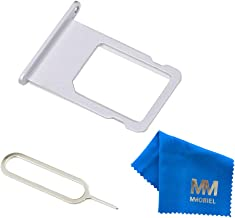 MMOBIEL SIM Card Tray Slot Replacement Part Compatible with iPhone 6-4.7 inch (Silver) incl Sim pin
