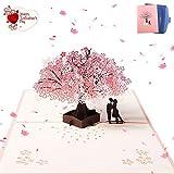 ZARRS Biglietto 3D,Pop up d'auguri Carta per Matrimonio Anniversario San Valentino di Comp...