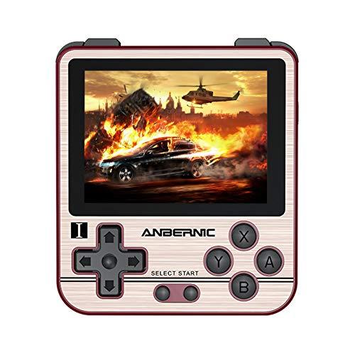 Anbernic RG280V Console de Jeux Portable 2,8 pouces IPS, 16Go Console Portable Retro Open Source System, 32GB TF Card avec 14000 Jeux classiques, Soutien PSP/PS1/N64/NDS, Batterie 2100mAh(Or)