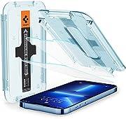 Spigen Glas.tR EZ Fit Screenprotector compatibel met iPhone 13 Pro Max, 2 Stuks, met Sjabloon voor Installatie, Kristalhelder, Case friendly, 9H Gehard Glas