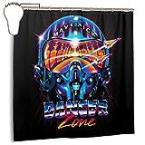 GSEGSEG Gseg Wasserdichter Polyester-Duschvorhang Danger Zone Miami Vice Top Gun Print Dekorativer Badezimmer-Vorhang mit Haken, 182,9 cm x 182,9 cm