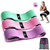 CFX Resistance Hip Bands, Fitnessbänder Set Yogagurt in 3 Zugkraftstärken Trainingsband Yogaband...