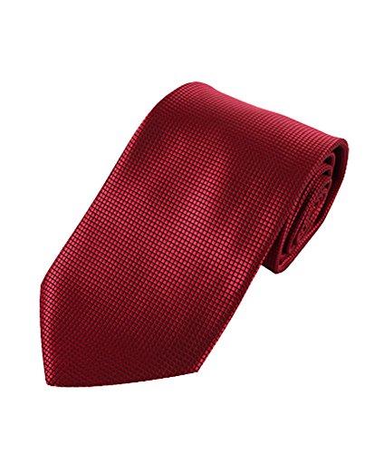 Graph Solid Micro Fiber Poly Woven Slim Tie (Burgundy)