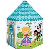 Intex 44635NP - Casita infantil tela, INTEX, 104x104x130 cm, Cabañas para niños interior, Con forma de castillo, color azul claro, Casita infantil tela plegable, Tienda de campaña niños