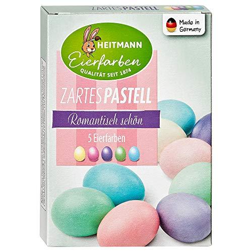 Heitmann Eierfarben Zartes Pastell - 5 flüssige Kaltfarben - Ostern - Ostereier bemalen, Ostereierfarbe - Gelb, Rosa, Türkis, Grün, Flieder