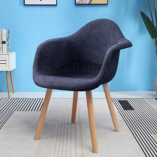 Computer Chair Nordic Stuhl, LäSsiger Hocker Aus Weichem Stoff, RüCkenlehne, Fauler Computertisch Und Stuhl