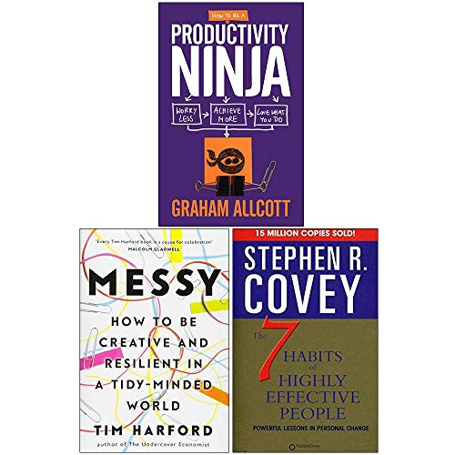 How to Be a Productivity Ninja, Messy [Hardcover], The 7 Habits Of Highly Effective People 3 Books Collection Set