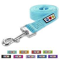 Pawtitas Reflective Leash M/L Teal 1.8M ペット子犬の鎖反射犬の鎖快適なハンドル高反射性の糸頑丈な犬の訓練の鎖6フィートの犬の鎖または4フィートの犬の鎖として利用できる 中/大 ティール