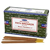 Satya Nag Champa Path Breaker Incense Sticks 15 Gram x 12 Pack, Hand Rolled – Free from Chemicals...