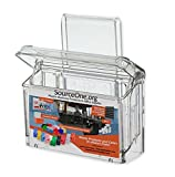 SourceOne Outdoor business card holder with Window hook (clear)