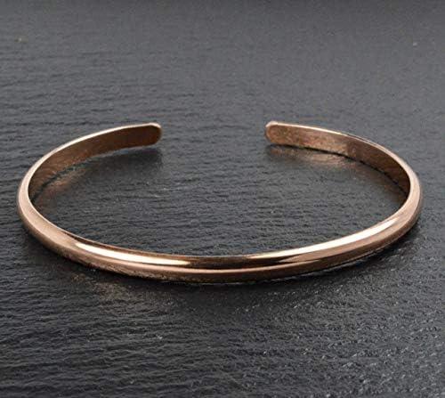 Handmade Copper Bangle Bracelet Made in Alaska product image