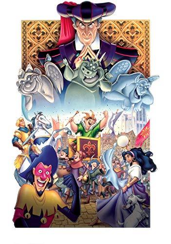 JIUZI Puzzle 1000 Teile Für Erwachsene, Geschicklichkeitsspiel Für Die Ganze Familie, Erwachsenenpuzzle - Der Glöckner Von Notre Dame (75X50 cm)