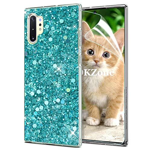 OKZone Funda Samsung Galaxy Note 10 Plus Carcasa Purpurina [con Protector Pantalla],...