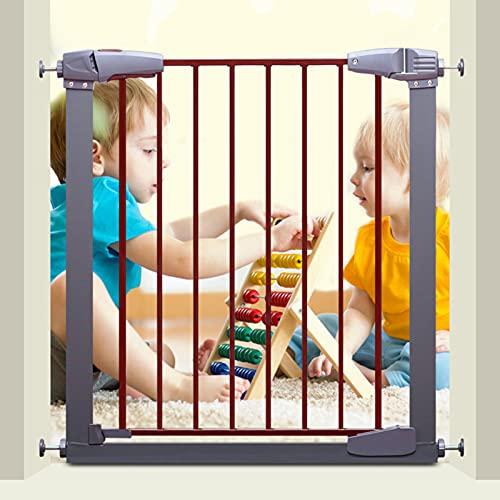 Puertas De Seguridad Para Niños Metal Uso Múltiple Múltiple Cerca De Pet Presión Instalada Puertas Puertas División Puerta De Aislamiento Para Pasillos, Cocina, Balcón, Puertas, Prove(Size:B: 83-86cm)