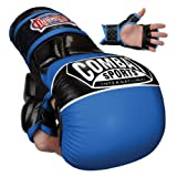 Combat Sports Max Strike MMA Training Gloves (Blue, Large)