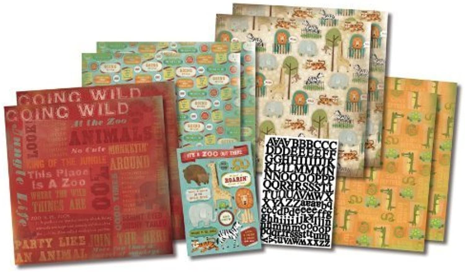 Karen FosterThemed Paper Stickers and Scrapbook Kit, Trip to The Zoo by Karen Foster