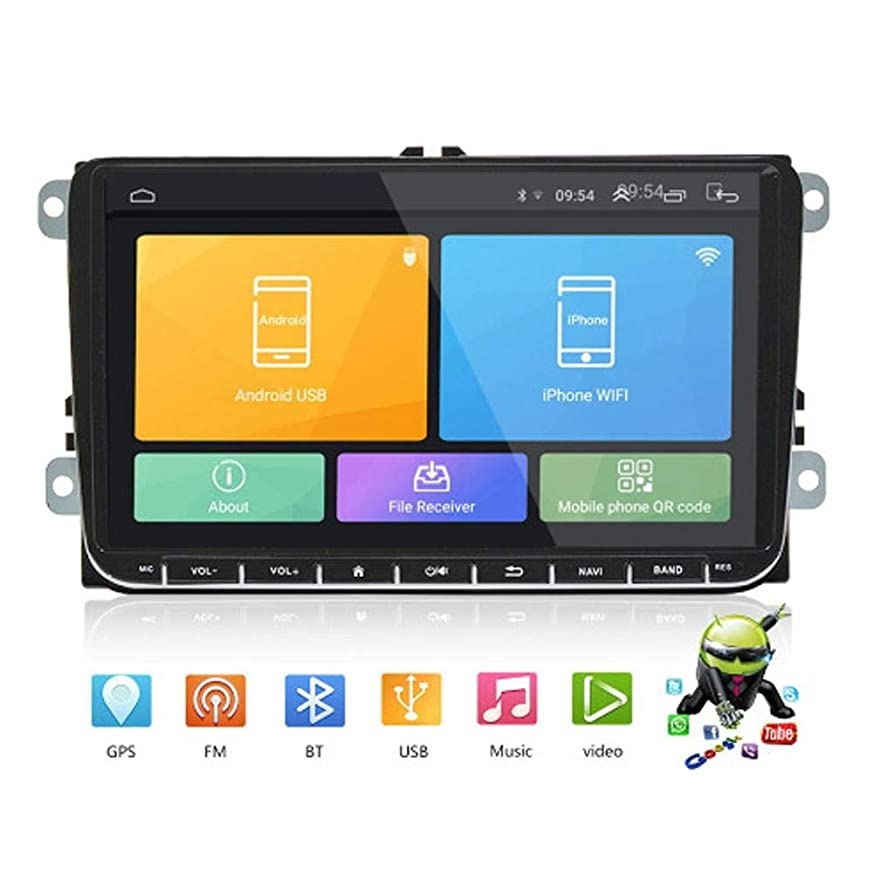 miniflower GPS Navigation for Car Android 8.1 9 Inch 16GHD Touch Screen Bluetooth Vehicle Navigator System for?Music/Navigation?Map?Data/Video AM/FM?Radio