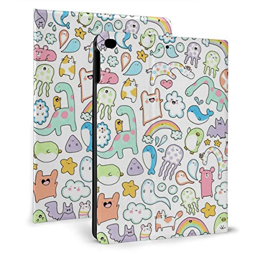 Case Ipad 9.7 Inch 2017/2018 (Mini4/5) - Soft Leather Stand Folio Case Cover For Ipad 7.9 Inch, With Multiple Viewing Angles, Auto Sleep/Wake, Einst Unicorn Narwhal