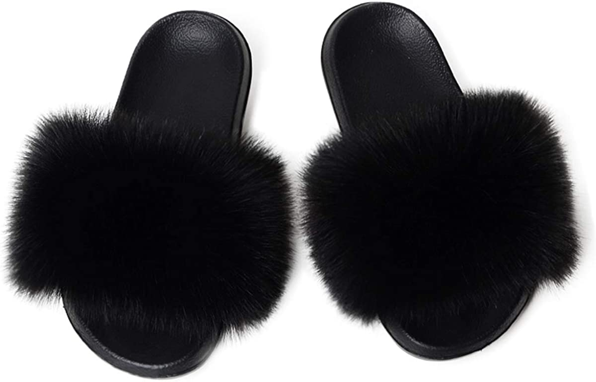 Women's Fur Slides Slipper Raleigh Mall Sandals Special sale item Sand Fluffy Faux Fuzzy