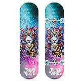 ZO MEBER Skateboard Flash Wheel Complete Skateboard, 9 Capas Maple Deck, 80cm * 20cm