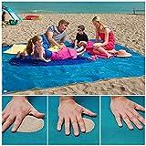 vi sabbia libera Beach Mat professionale per spiaggia tempo libero, attività all'aperto stile. l'uso del disegno della maglia di alta precisione, può prevenire efficacemente sabbia sul tappeto, facile da pulire e asciugatura rapida. quattro angoli ha...