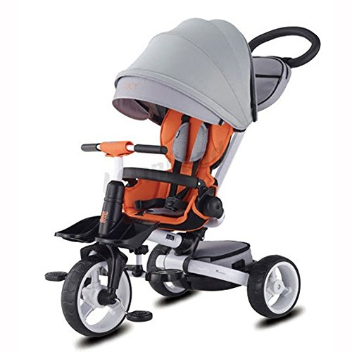 New Samchulli JUCY T600 Trike Foldable Tricycle Child Baby Toy Bike with Exclusive rain,Wind Cover (...