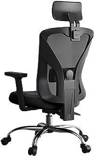 Silla de videojuegos, silla de oficina de ordenador, silla de juegos, silla reclinable, silla giratoria elevable, color negro