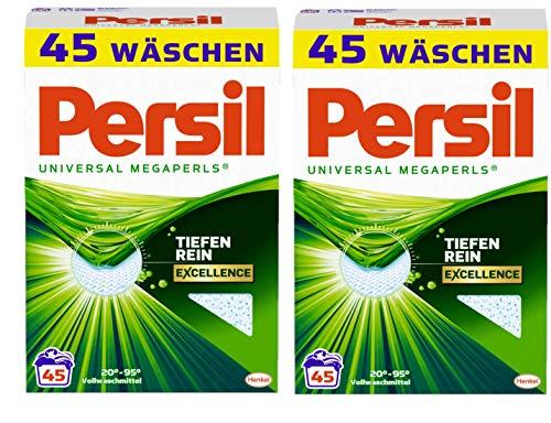 Persil Universal Megaperls 2er Pack Vollwaschmittel für hygienisch reine Wäsche 90 (2x45) Waschladungen