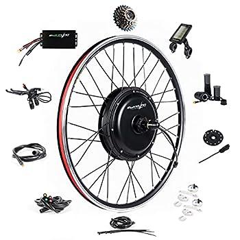 EBIKELING Waterproof Ebike Conversion Kit 48V 1500W 26  Direct Drive Electric Bike Conversion Kit - Rear Wheel Electric Bicycle Hub Motor Kit  Rear/LCD/Twist