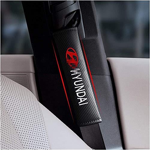 ZWH-box Funda de cojín para cinturón de Seguridad de Coche Soft Comfort cinturón de Seguridad protección del cinturón de Hombro para Hyundai Santa Fe Sonate Solaris Azera Creta I30 Ix25