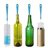 16' Bottle Brush Cleaner for Water Bottle - Long Handle Bottle Brush for Washing Wine, Beer, Swell, Decanter, Kombucha, Thermos, Glass Jugs and Long Narrow Neck Bottles