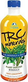 allOne TRC Minerals Liquid | Unflavored | Full Spectrum of 75 Plant-Derived Trace Minerals & Electrolytes Per Ounce | 32oz