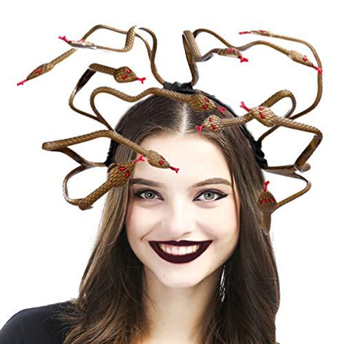 Holibanna Medusa Cosplay Kostüm Stirnband Schlange Kopfschmuck Dress Up Kopfschmuck für Karneval Karneval Maskerade Party Supplies