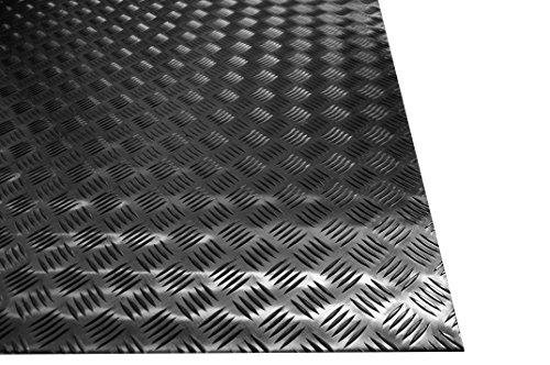 Chapa estriada de aluminio, grosor: 3mm -  Dim. 500 x 1000 mm -  Aleación 1050H24