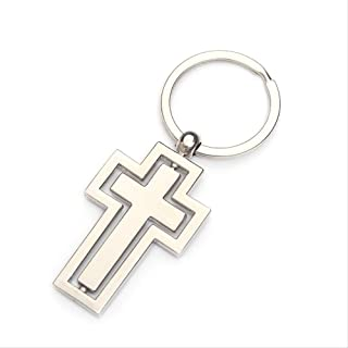 Religious Gifts Metal Keychain New Personality Rotating Cross Key Chain Car Pendant Activity By Custom Gift Items