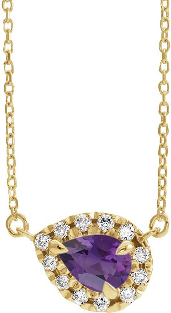 Solid 14k 5 ☆ very popular Dallas Mall Yellow Gold Solitaire Amethyst 1 Diamond and Ch Cttw 8