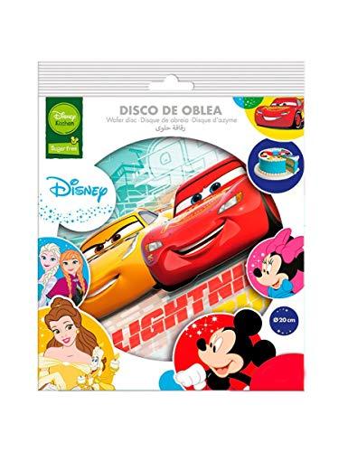 Dekora-114379 Decoracion Tartas de Cumpleaños Infantiles en Papel de Azucar de Cars-20 cm Diametro (114379)