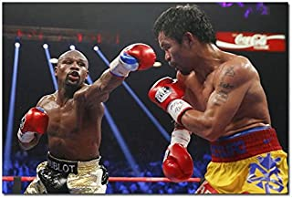 Tomorrow sunny Manny Pacquiao VS Floyd Mayweather Boxer Boxing Art Silk Poster 24x36 inch