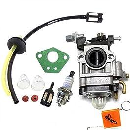 HURI Carburateur et Joint + Tuyau + Bougie d'allumage pour Débroussailleuse Multifonctions 5en1 52cc 49cc 43cc