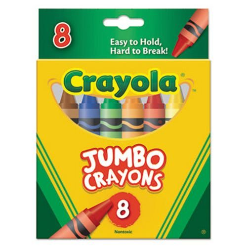 Crayola So Big Extra Large Crayons, Assorted Colors, Box of 8