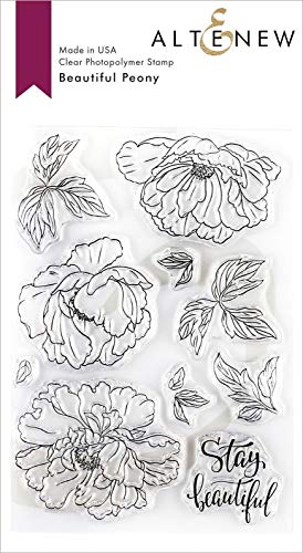 Altenew Clear Cling Stamp Set - Beautiful Peony