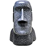 UsZxOkGood Tissue Box Cover Easter Island Tissue Box Holder, Weird Toilet Paper Holder Funny Tissue Box Covers, Adorable Moai Shaped for Bathroom Living Room Bedroom or Office, Gray-Black