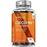 NEUES DESIGN Premium Curcuma Kapseln mit Vitamin D3 - Laborgeprüft in Deutschland - Curcumin 185x höhere Bioverfügbarkeit in 1 Kapsel - 500mg Kurkuma und Vitamin D Tagesbedarf