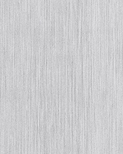 Papel pintado liso EDEM 594-20 Papel pintado vinílico texturado tono sobre tono destellante blanco 5,33 m2
