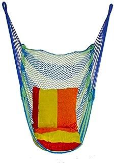 WEHOLY Swing Hammock Wood Plastic Durable Outdoor Wilderness Net Mesh Swings Camping Nets Bed Indoor Home Dormitory Chair Swings Adult Children Hammock Lightweight Swings