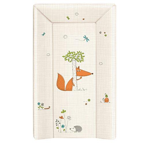 Wickelauflage Wickelunterlage Wickeltischauflage 2 Keil und Kopfteil 70x50 cm Abwaschbar für Mädchen und Junge - Fuchs 70 x 50 cm